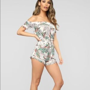 Tropical Print Romper